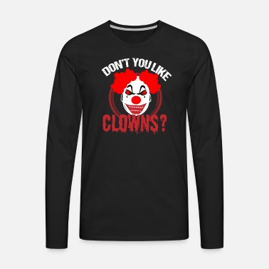 Halloween Clown skräck skräck party kostym läskigt Premium T-shirt ... 8547522f1a44d