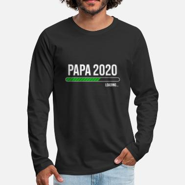 2020 Grossesse Papa 2020 Chargement - blanc - T-shirt manches longues premium Homme
