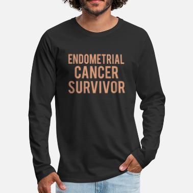 Endometrial Cancer Poison Endometrial Cancer: Endometrial Cancer Survivor - Men's Premium Longsleeve Shirt