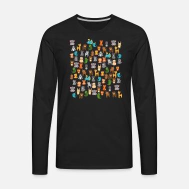 9c012de797 animales de dibujos animados lindo kawaii Camiseta premium hombre ...