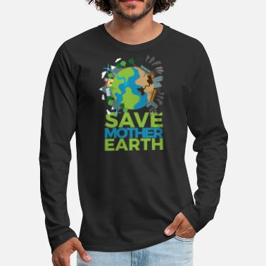 For Earth Day - Männer Premium Langarmshirt
