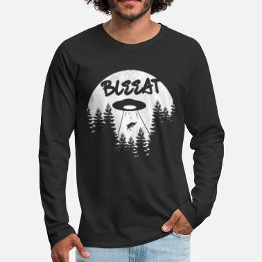 Bleating bleat Ufo goat Funny Kidnapping - Men's Premium Longsleeve Shirt
