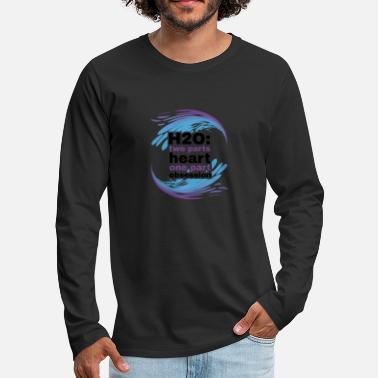 H2O Heart and Obsession swimming design. - Men's Premium Longsleeve Shirt