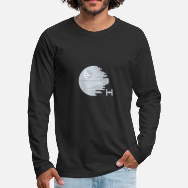 Illustration Death Star Simple Abstract Illustration - Men's Premium Longsleeve Shirt
