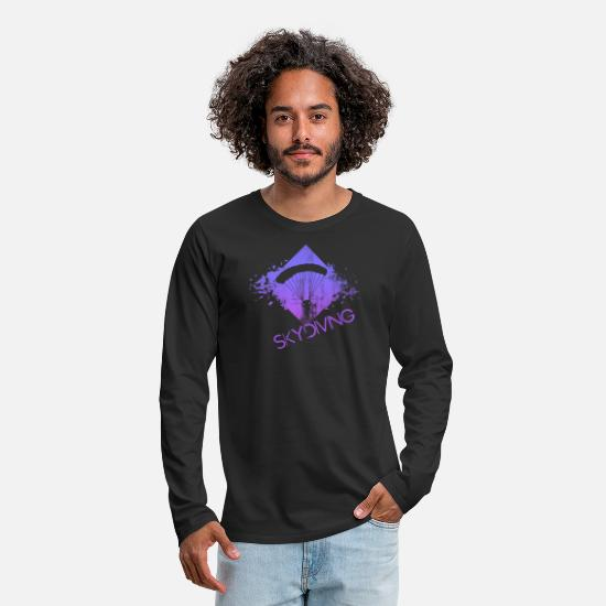 Skydiving Long sleeve shirts - skydiving - Men's Premium Longsleeve Shirt black