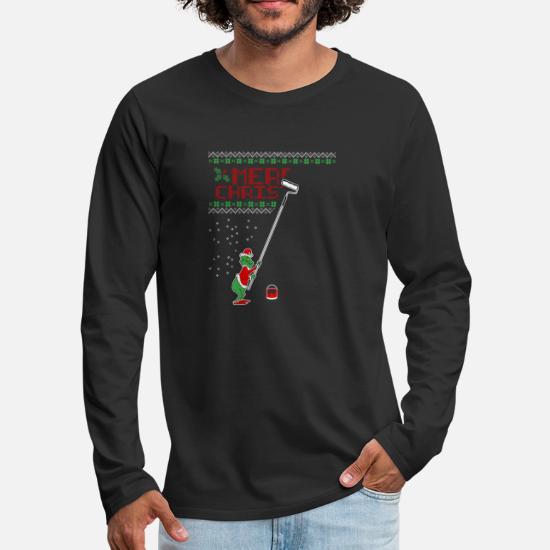 Merry Christmas Grinch Weihnachen Männer Premium Langarmshirt Schwarz