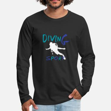 Diving T-shirt de plongée Diver Deep Sea Diving - T-shirt manches longues premium Homme