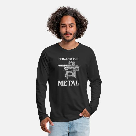 Gift Idea Long sleeve shirts - sewing machine pedal - Men's Premium Longsleeve Shirt black