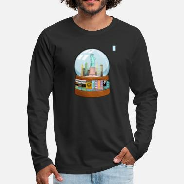 Charade New York Broadway Snow Globe Funny Gift - Men's Premium Longsleeve Shirt