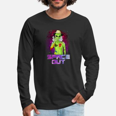 Hipster Alien Space Out Hipster Alien Fumeur & Espacement Out UFO - T-shirt manches longues premium Homme