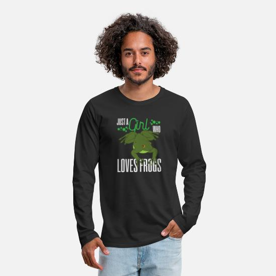 Nature Long sleeve shirts - Just A Girl Who Loves Frogs - Men's Premium Longsleeve Shirt black