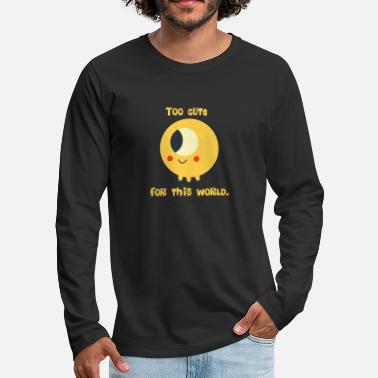 Too cute for this world - Cartoon Alien Retro - Männer Premium Langarmshirt