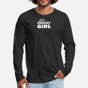 Volley Volley Ball Girls Design - Mannen premium longsleeve