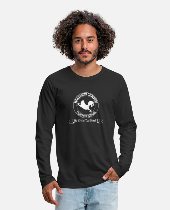 Chaos Long-Sleeved Shirts - Funny – Headless Chicken Corporation - Men's Premium Longsleeve Shirt black