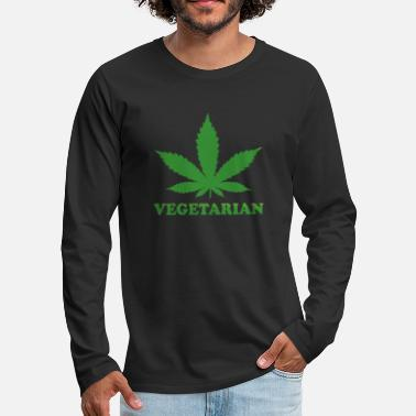 Paysbas Vegetarian Marihuana Feuille - T-shirt manches longues premium Homme