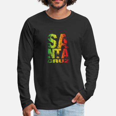 Santa Santa Cruz Colorful Palms - Men's Premium Longsleeve Shirt