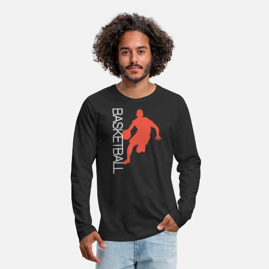 Basket Long sleeve shirts - Basketballer basketball team basketball - Men's Premium Longsleeve Shirt black