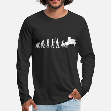 Piano Tee shirt Pianiste Piano Evolution - T-shirt manches longues premium Homme