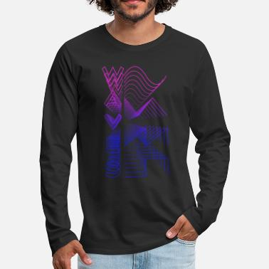 Audio Waves Waveform Audio Analog Design Modular Gift - Männer Premium Langarmshirt