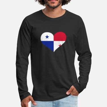 Do Panama Herz; Heart Panama - Men's Premium Longsleeve Shirt
