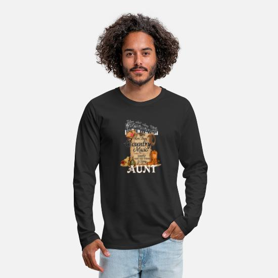 Play Long sleeve shirts - Country Music Aunt - Men's Premium Longsleeve Shirt black