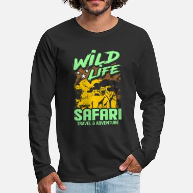 Jungle Safari adventure shirt gift idea - Men's Premium Longsleeve Shirt