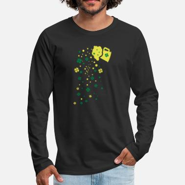 Green Beer green beer shamrocks - Men's Premium Longsleeve Shirt