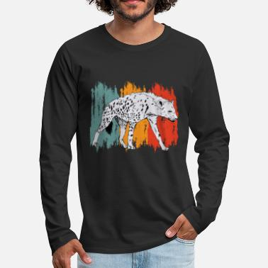 Pack-animals Hyena | Retro | Pack animals | scavenger - Men's Premium Longsleeve Shirt