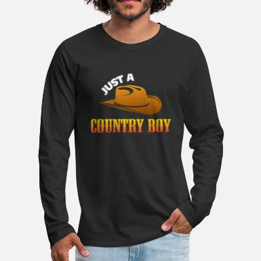 Country Just a country boy - Men's Premium Longsleeve Shirt