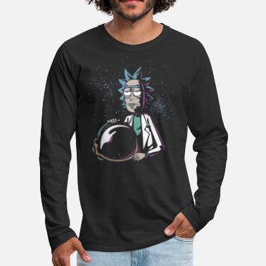 Rick and Morty Astronaut Helmet - Premium langermet T-skjorte for menn