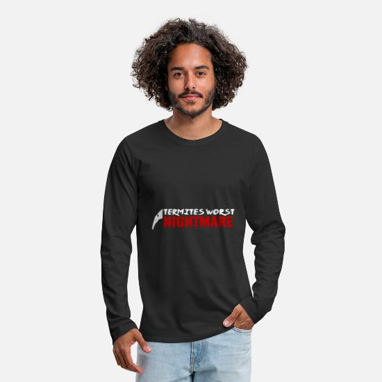 South America Long sleeve shirts - Anteater south america animal gift tongue termites - Men's Premium Longsleeve Shirt black
