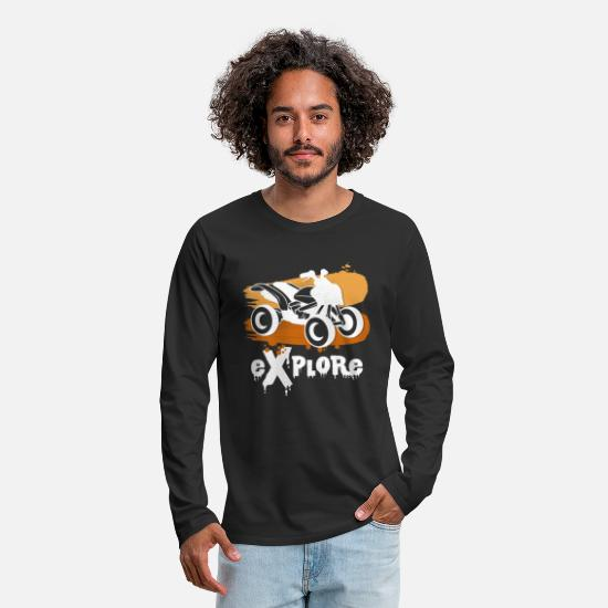 Quad Long Sleeve Shirts - Discover gift ideas with the Quadbike saying - Men's Premium Longsleeve Shirt black