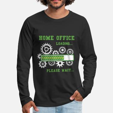 Employee Of Week Funny Home Office Loading Please Wait WFH Gift - Men's Premium Longsleeve Shirt
