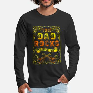 Papaw Rock and Roll 1969 dad and father 50th birthday - Men's Premium Longsleeve Shirt