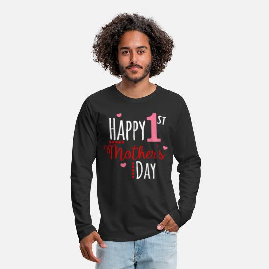 Gift Idea Long sleeve shirts - Happy Mothers Day Mother's Day Mother's Day Gift - Men's Premium Longsleeve Shirt black