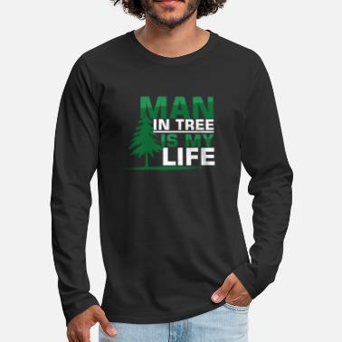 Recreational Man In The Tree Climbing Recreational Activity - Men's Premium Longsleeve Shirt
