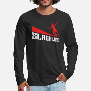 Occasion Slackline Slacklining Rope Walking Gift - T-shirt manches longues premium Homme