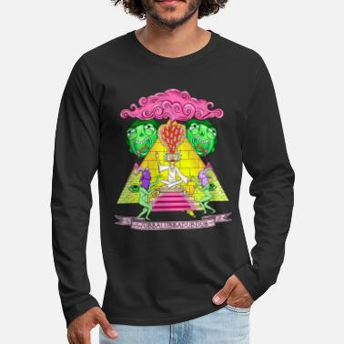 Rick And Morty Pyramid With Catchphrase - Men's Premium Longsleeve Shirt