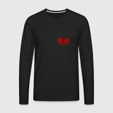 broken heart love broken heart gift - Men's Premium Longsleeve Shirt