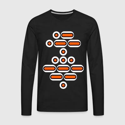 AWESOME (orange / sort / hvid) - Herre premium T-shirt med lange ærmer