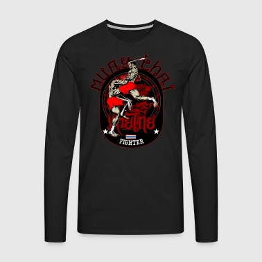 Muay Thai Fighter T-Shirt - Men's Premium Longsleeve Shirt