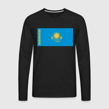 National Flag Of Kazakhstan - Men's Premium Longsleeve Shirt