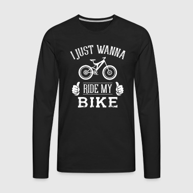 Me and My Bike - Mannen Premium shirt met lange mouwen