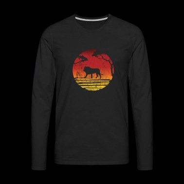 Silhouette lion gift Africa safari savanna zoo - Men's Premium Longsleeve Shirt