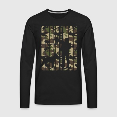 Vintage Retro Christmas Gifts for Hunters.Hunting - Men's Premium Longsleeve Shirt