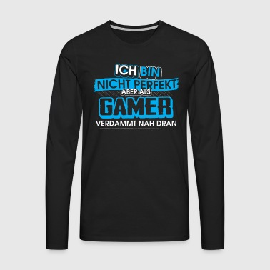 overhemd Gamer Not Perfect - Mannen Premium shirt met lange mouwen
