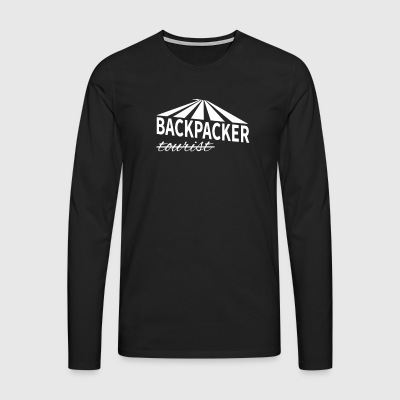 Backpacker - not tourist - Men's Premium Longsleeve Shirt