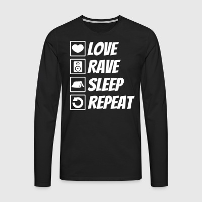 Love rave sleep repeat festival - Men's Premium Longsleeve Shirt
