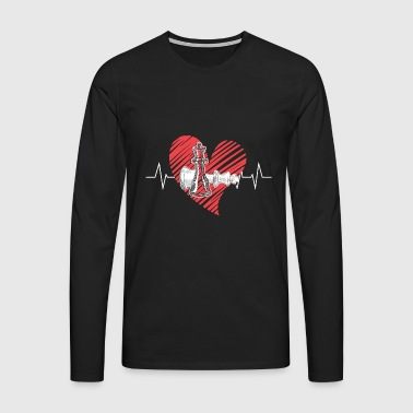 Chess Heartbeat Shirt - Men's Premium Longsleeve Shirt