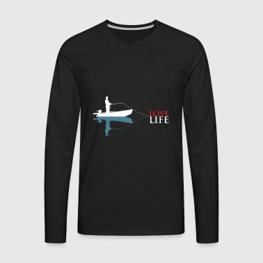 Fishing - love - life - Men's Premium Longsleeve Shirt